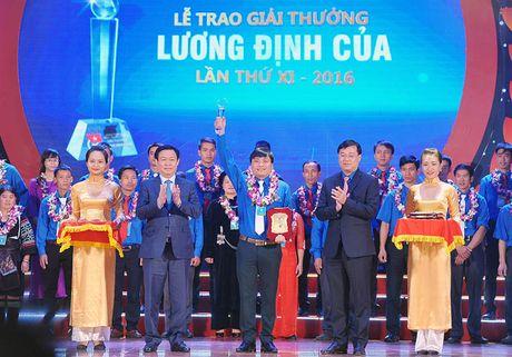 Trao Giai thuong Luong Dinh Cua cho 85 thanh nien nong thon - Anh 1