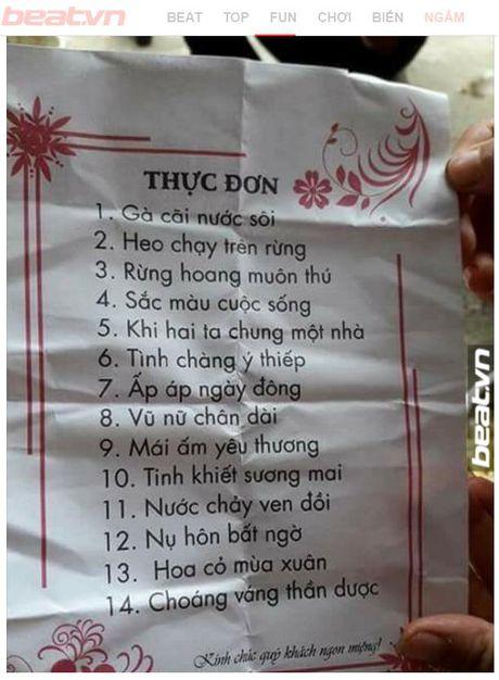 Do nhin duoc cuoi truoc to thuc don co mot khong hai nay - Anh 1