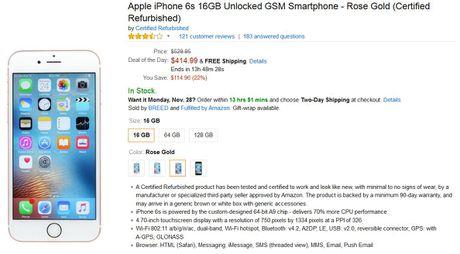 Amazon se ban iPhone 6s tan trang trong ngay Cyber Monday - Anh 2