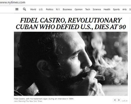 Bao chi the gioi tran ngap tin, bai ve Fidel Castro - Anh 1
