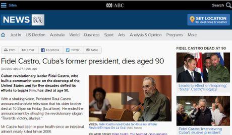 Bao chi the gioi tran ngap tin, bai ve Fidel Castro - Anh 2