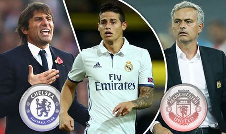 Chelsea-Conte tranh James Rodriguez voi MU-Mourinho - Anh 1