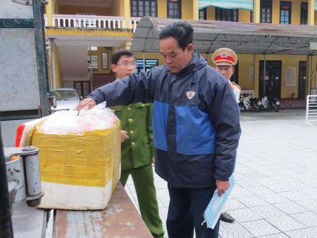 Phat hien xe tai cho 1,3 tan noi tang dong vat boc mui - Anh 1