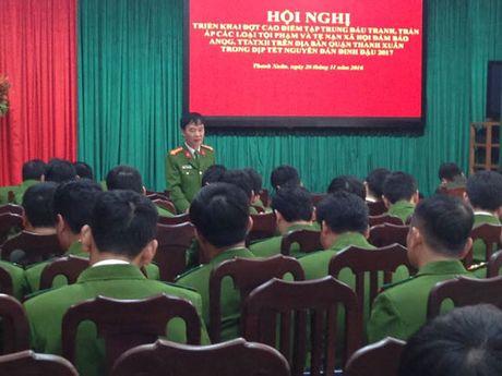 Cong an quan Thanh Xuan mo dot cao diem dau tranh, tran ap toi pham - Anh 1