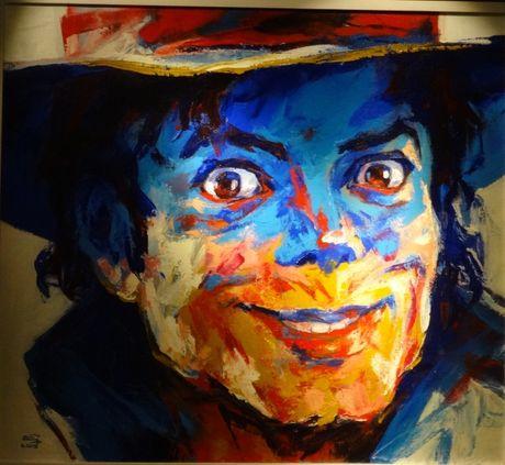 Trien lam tranh chan dung Michael Jackson tai Ha Noi - Anh 5