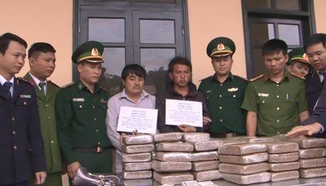 Ha Tinh: Bat 2 doi tuong, thu 60 banh can sa - Anh 1
