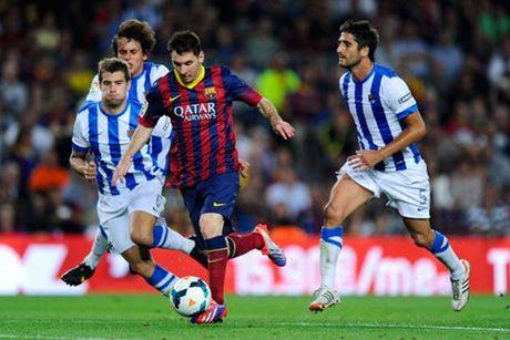 Real Sociedad – Barcelona: Hiem hoa tai Anoeta - Anh 1