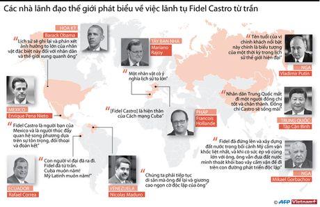 Cac lanh dao the gioi phat bieu ve viec lanh tu Fidel Castro tu tran - Anh 1