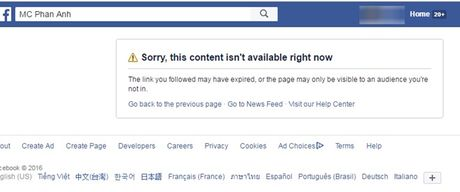 Ly do MC Phan Anh bat ngo tam thoi khoa Facebook - Anh 1