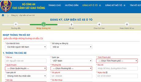 Nguoi dan se dang ky sang ten doi chu, cap bien so xe qua mang - Anh 1