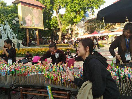 Nguoi dan Thu Do xuc dong tro ve tuoi tho tren pho di bo Ho Guom - Anh 14