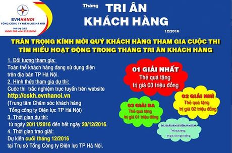 EVN HANOI phat dong cuoc thi 'Tim hieu ve hoat dong thang Tri an KH' - Anh 2