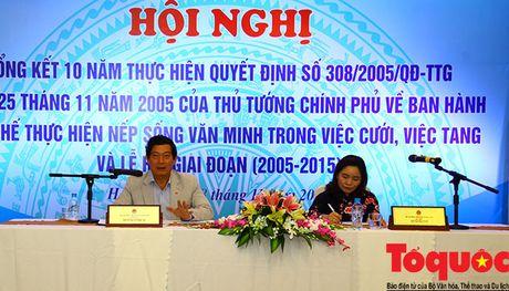 Phai neu guong dien hinh thuc hien nep song van minh trong viec cuoi, tang, le hoi - Anh 1