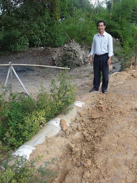 Het o nhiem nho biogas va cong thoat nuoc thai - Anh 1