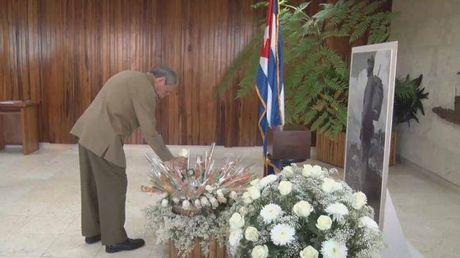 Chu tich Cuba Raul Castro tuong niem truoc tro cot lanh tu Fidel - Anh 2