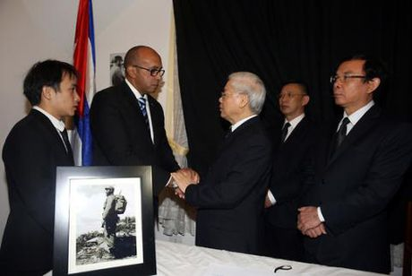 Viet Nam to chuc Quoc tang tuong nho ong Fidel Castro - Anh 1