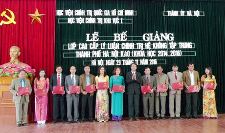 Ha Noi: Be giang Lop Cao cap ly luan chinh tri K40 - Anh 1