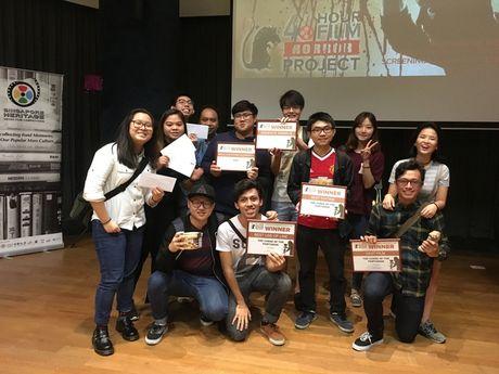 Sinh vien Viet Nam gianh giai tai cuoc thi lam phim quoc te o Singapore - Anh 1