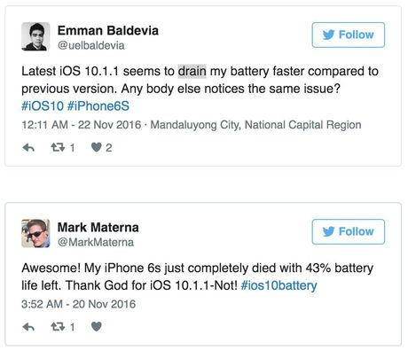 iOS 10.1.1 loi khien iPhone nhanh het pin? - Anh 2