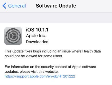 iOS 10.1.1 khien iPhone bi tut pin bat thuong - Anh 2