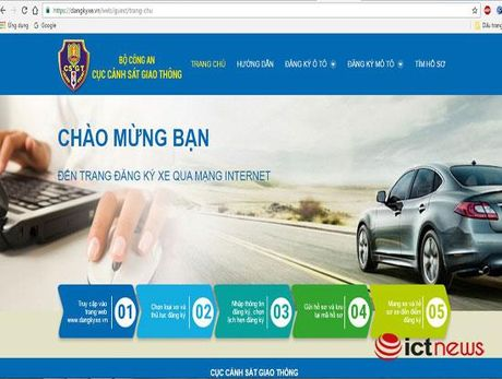 Thi diem dang ky xe o to qua mang Internet tai Ha Noi, TP.HCM - Anh 1