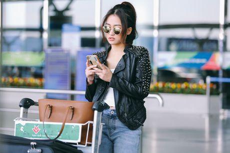 Midu, Trang Moon sanh dieu o san bay, sang Han du su kien - Anh 4