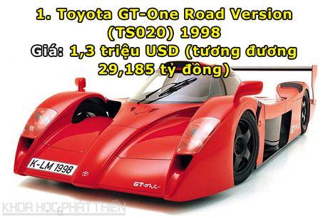 Top 10 sieu xe dat nhat trong lich su hang Toyota - Anh 1
