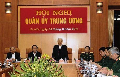 Tong Bi thu phat bieu chi dao Hoi nghi Quan uy Trung uong - Anh 1