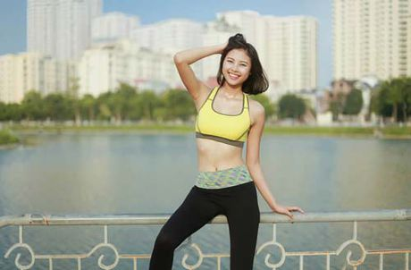 Nguoi dep Dao Thi Ha luyen dang sexy ma chang can gym - Anh 12