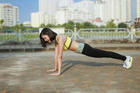 Nguoi dep Dao Thi Ha luyen dang sexy ma chang can gym - Anh 6