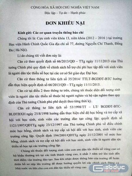 Sinh vien dan toc thieu so bat binh vi Hoc vien Hanh chinh cham tra tien tro cap - Anh 1