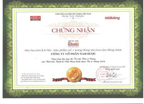 Siro Ho-cam Ich Nhi la san pham so 1 trong dong Siro Ho cam Dong duoc - Anh 1