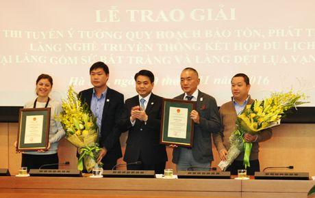 Trao giai cuoc thi y tuong quy hoach Lang gom su Bat Trang va Lang lua Van Phuc - Anh 1