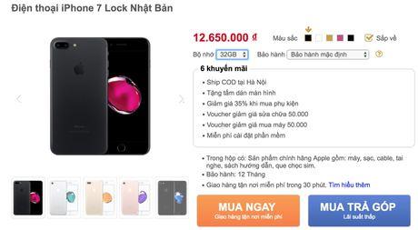 iPhone 7 lock do bo ve Viet Nam gia 13-15 trieu - Anh 3