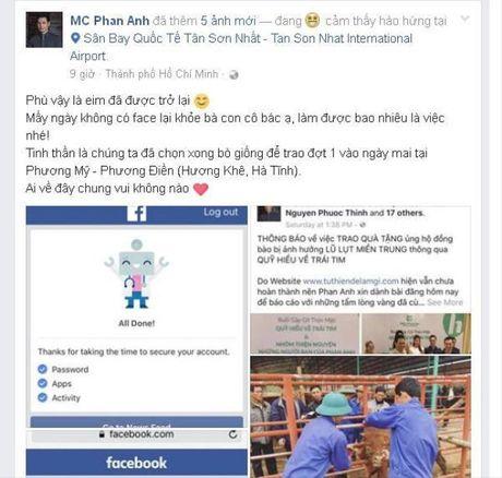 Vua lay lai duoc Facebook, Phan Anh bat ngo bi doi tien tu thien - Anh 1
