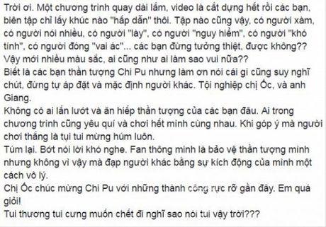 Oc Thanh Van buc xuc len tieng khi bi fan Chi Pu cong kich - Anh 2