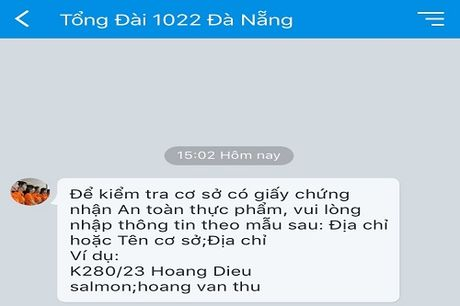 Tra cuu co so kinh doanh dat chat luong ve sinh an toan thuc pham qua Zalo, SMS - Anh 1
