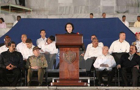 Chu tich QH phat bieu tai le tuong niem lanh tu Fidel Castro - Anh 1