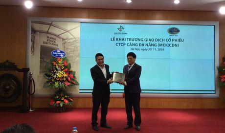 Co phieu Cong ty co phan cang Da Nang len san HNX - Anh 1