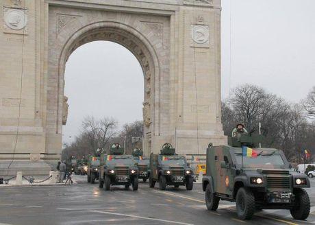 Chiem nguong dan tang, phao 'khung' Quan doi Romania duyet binh - Anh 9