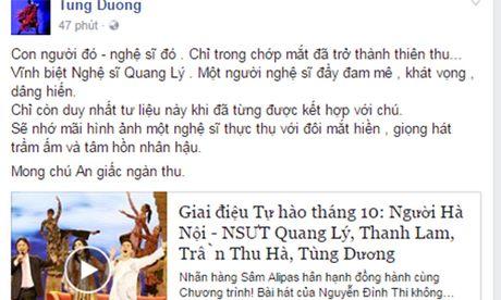Sao Viet tiec thuong nghe si Quang Ly qua doi - Anh 2