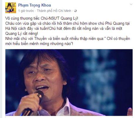 Sao Viet tiec thuong nghe si Quang Ly qua doi - Anh 3