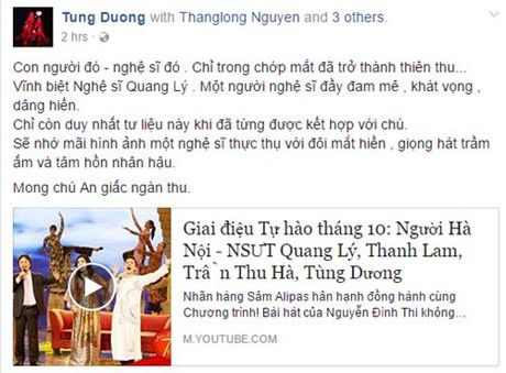 Nghe si Viet ngam ngui thuong tiec NSUT Quang Ly - Anh 2