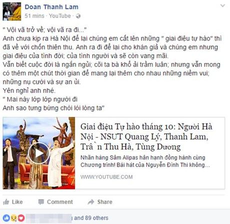 Nghe si Viet ngam ngui thuong tiec NSUT Quang Ly - Anh 3