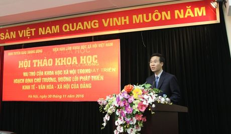 Hoi thao 'Vai tro cua khoa hoc xa hoi trong hoach dinh chu truong, duong loi cua Dang' - Anh 1