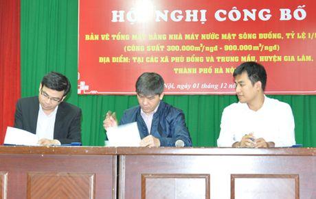 Cong bo ban ve tong mat bang Nha may nuoc mat song Duong - Anh 1