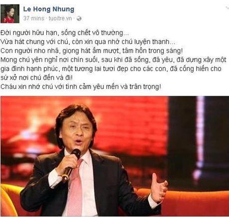 NSUT Quang Ly qua doi: Nghe si Viet nghen long tiec thuong - Anh 2