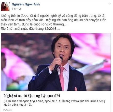 NSUT Quang Ly qua doi: Nghe si Viet nghen long tiec thuong - Anh 3
