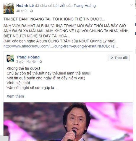 NSUT Quang Ly qua doi: Nghe si Viet nghen long tiec thuong - Anh 6