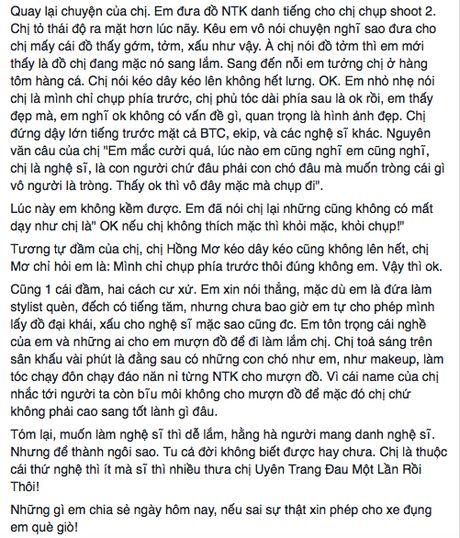 Uyen Trang bi stylist 'to' mac benh ngoi sao, Phuong Trinh Jolie len tieng - Anh 3